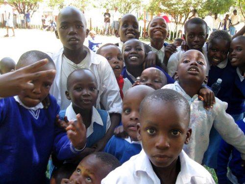Children on a school trip